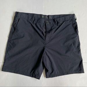 Hurley Nike Dri-Fit shorts size 38 color black